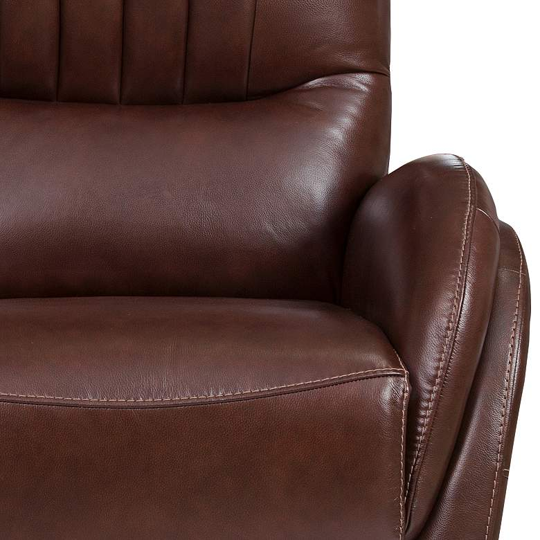 Italy Brown Leather Power USB Recliner with Lumbar Support more views