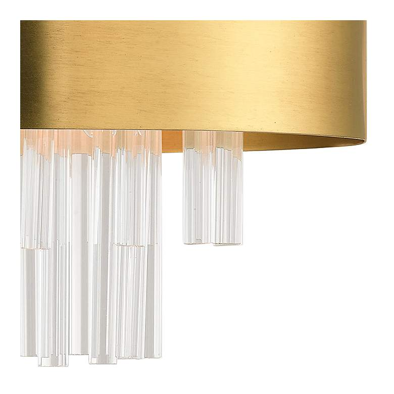"Orenberg 13"" Wide Brass and Crystal Rods 3-Light Drum Ceiling Light more views"