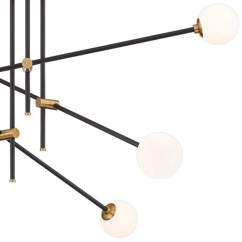 "Cosmet 41"" Wide Coal and Aged Brass 6-Light Pendant Light more views"