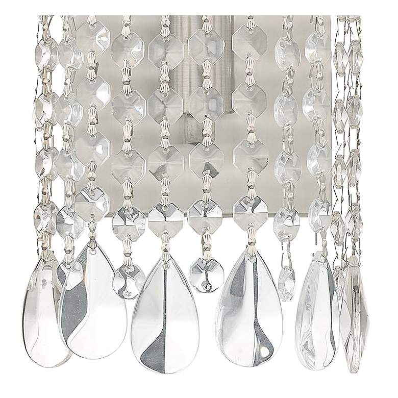 Elizabeth 12 1/2 High Brushed Nickel and Crystal Wall Sconce Light more views