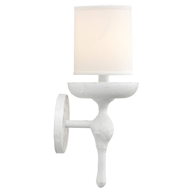 "Jamie Young Concord 11 1/2"" High White Wall Sconce more views"