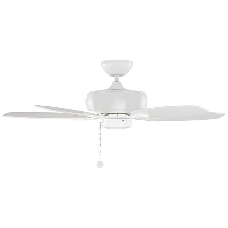 "44"" Monte Carlo Centro Max II Matte White Pull Chain Ceiling Fan more views"