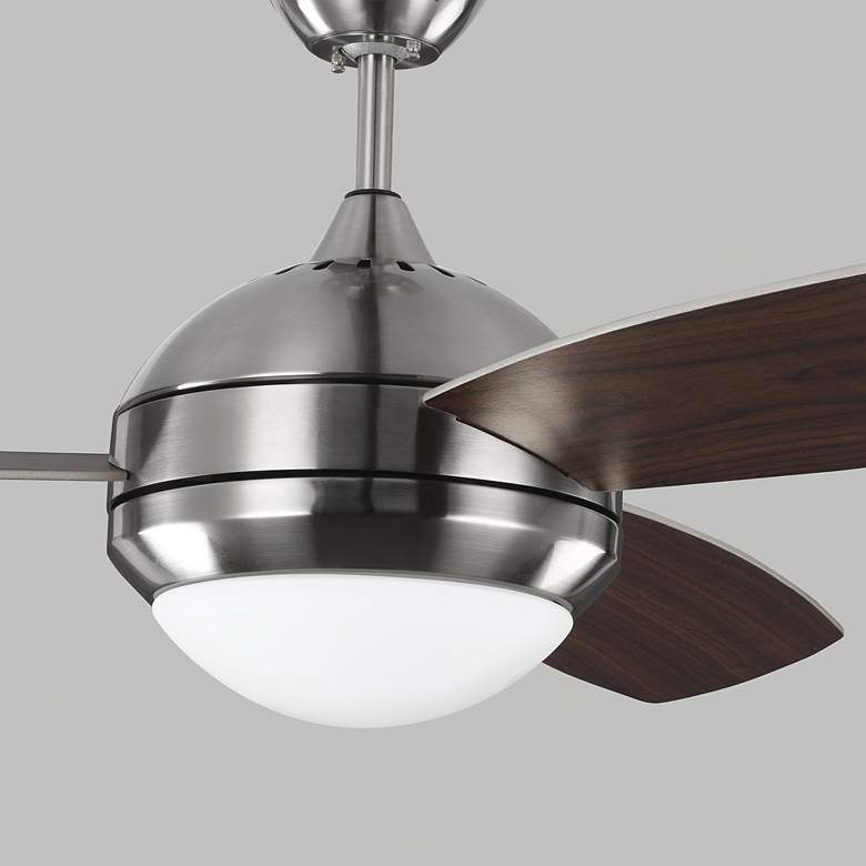 "52"" Monte Carlo Discus Trio Brushed Steel Damp Rated LED Ceiling Fan more views"