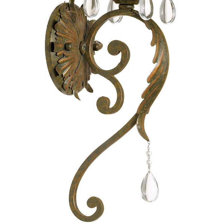 "Valentina Collection 19 1/2"" High Iron Leaf Wall Sconce more views"