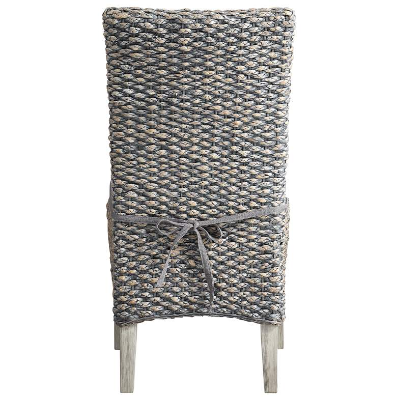 Heron Gray Seagrass Armless Dining Chairs Set of 2 more views
