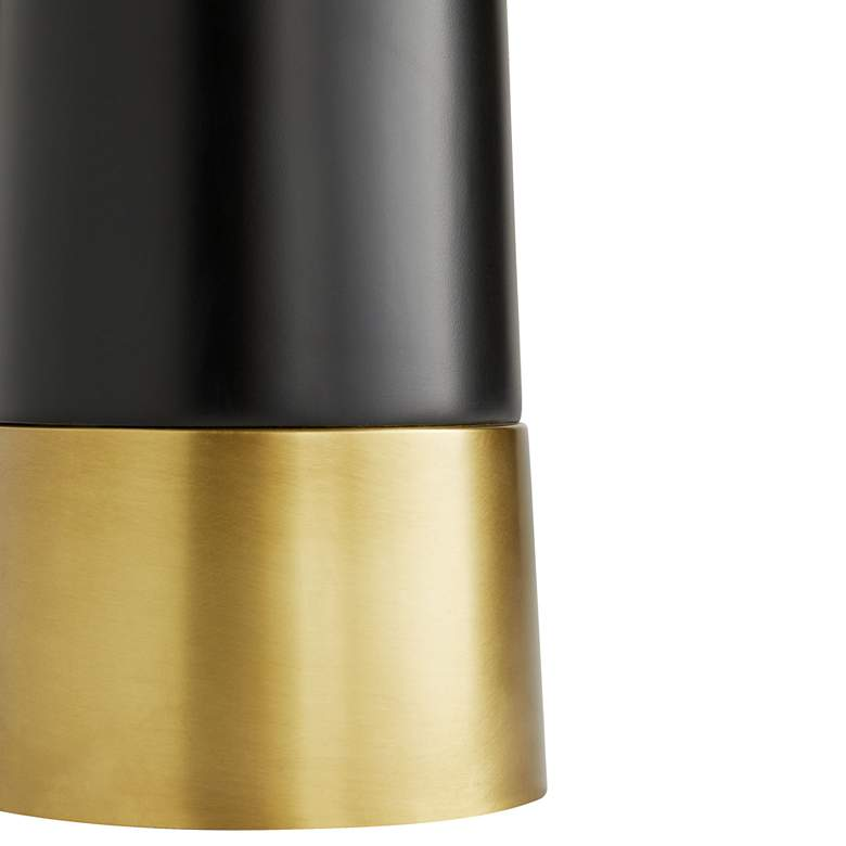 Arteriors Home Elden Black and Antique Brass Cone Floor Lamp more views
