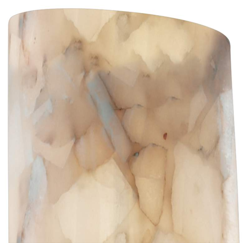 "Alabaster Rocks Wall Sconce 18 3/4"" High Alabaster LED Wall Sconce more views"