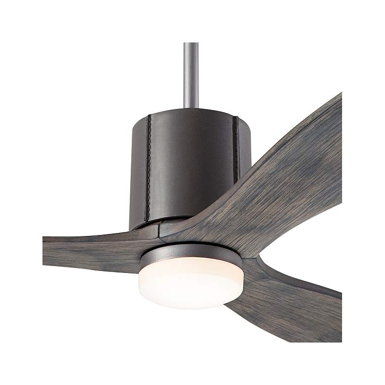 "54"" Modern Fan LeatherLuxe Graphite and Graywash LED Ceiling Fan more views"