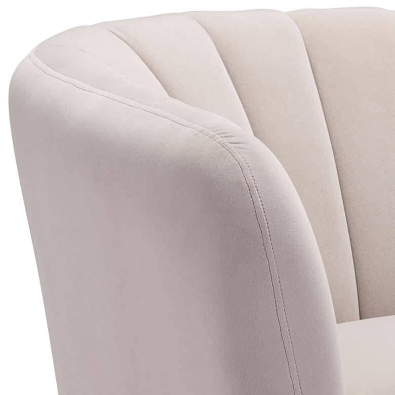 Zuo Deco Beige Channel Tufted Accent Chair more views