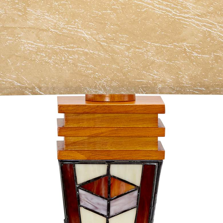 Art Glass Mission Night Light Table Lamp more views