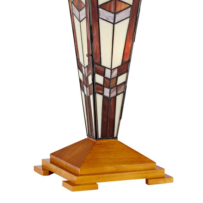 Art Glass Mission Tiffany-Style Night Light Table Lamp more views