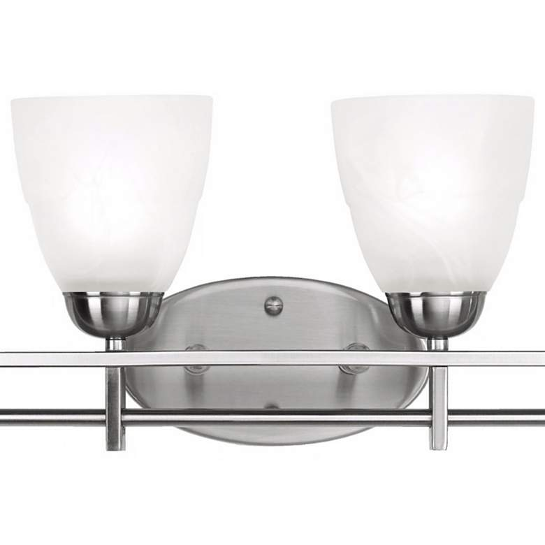 "Possini Euro Deco 33"" Wide Brushed Nickel 4-Light Bath Light more views"