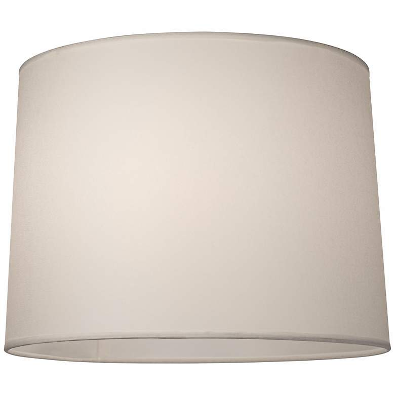 Hardback White Drum Lamp Shade 13x14x10 (Spider) more views