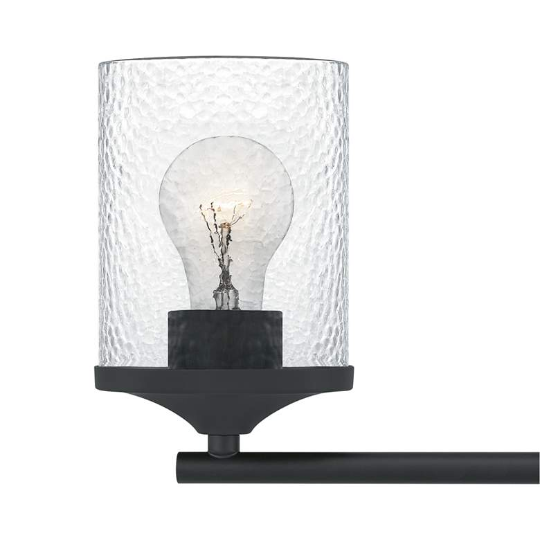 "Quoizel Abner 7 3/4"" High Matte Black 2-Light Wall Sconce more views"
