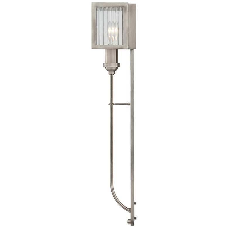 "Quoizel Tillman 25 3/4""H Polished Antique Nickel Wall Sconce more views"