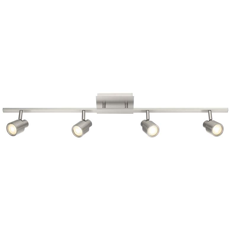 Lincoln 4-Light Brushed Steel LED Track Fixture more views