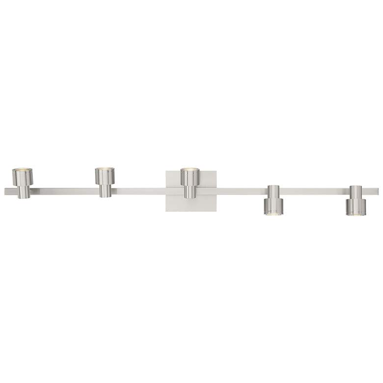 Lincoln 5-Light Brushed Steel LED Track Fixture more views