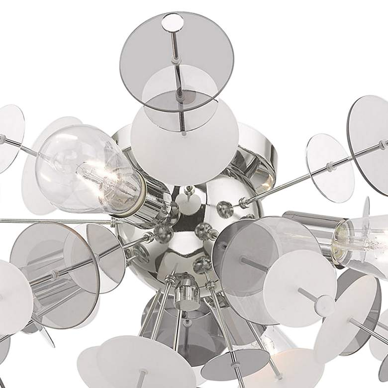 "Circulo 24"" Wide Modern Semi-Flushmount Chrome Ceiling Light more views"