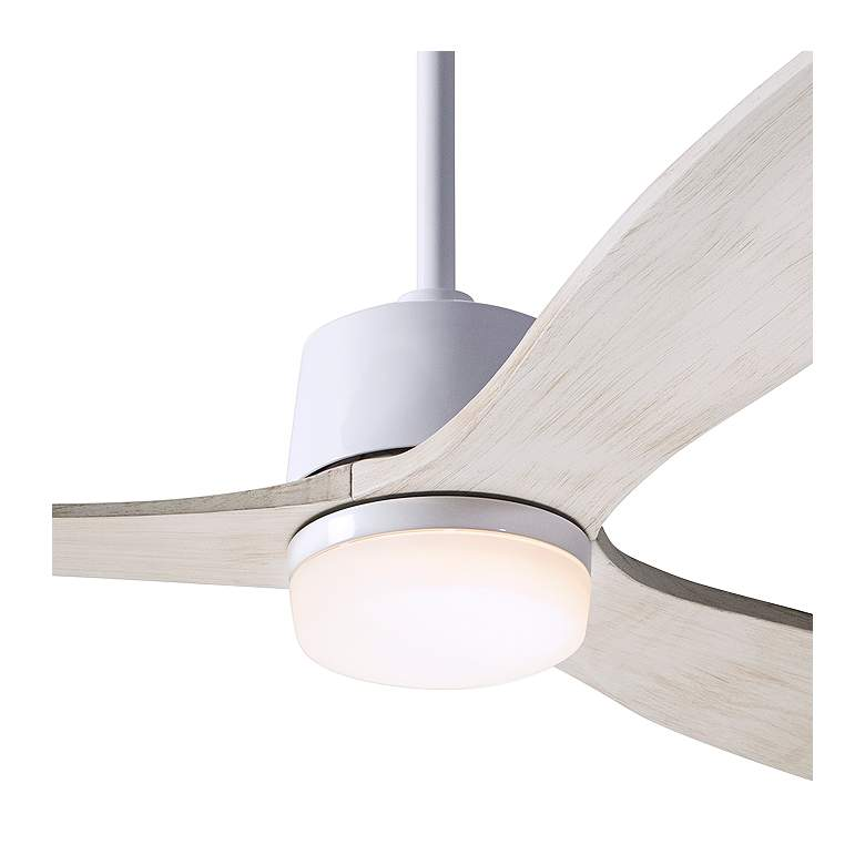 "54"" Modern Fan Arbor Gloss White and Whitewash Damp LED Ceiling Fan more views"