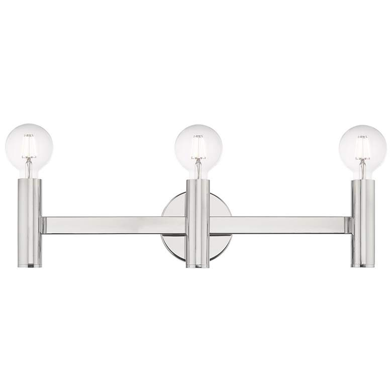 "Copenhagen Polished Chrome 23.5"" Wide Modern Bath Vanity Light more views"