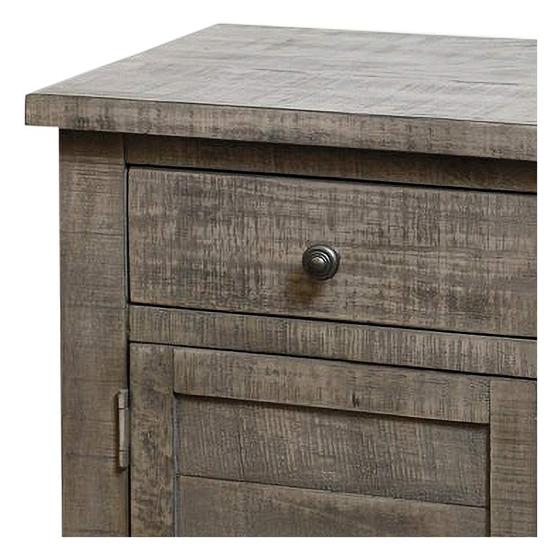 "Nanette 20"" Wide Weathered Gray Acacia Square Side Table more views"
