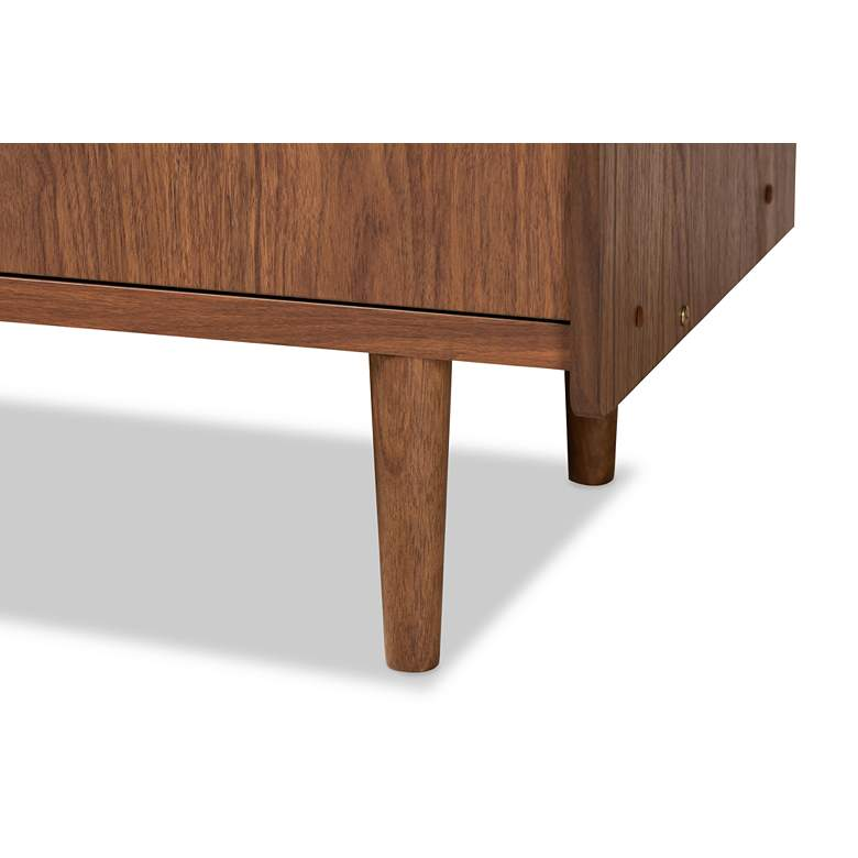 "Halden 57""W Walnut Brown and Gray 2-Door Sideboard Buffet more views"