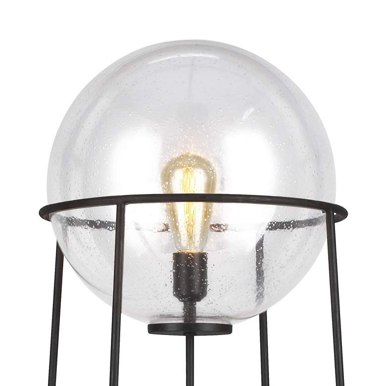 Atlas Aged Iron and Glass Orb Shade LED Floor Lamp by Ellen DeGeneres more views