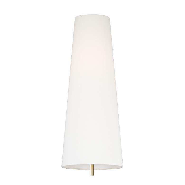 Lorne Arctic White and Burnished Brass LED Floor Lamp by Kelly Wearstler more views
