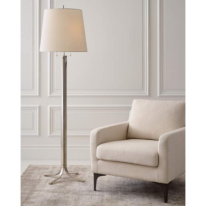 Logan Polished Nickel Finish 2-Light LED Floor Lamp by Thomas O'Brien more views