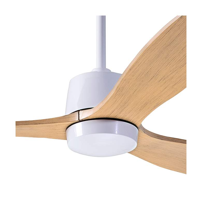 "54"" Modern Fan Arbor Gloss White and Maple Damp Rated Ceiling Fan more views"