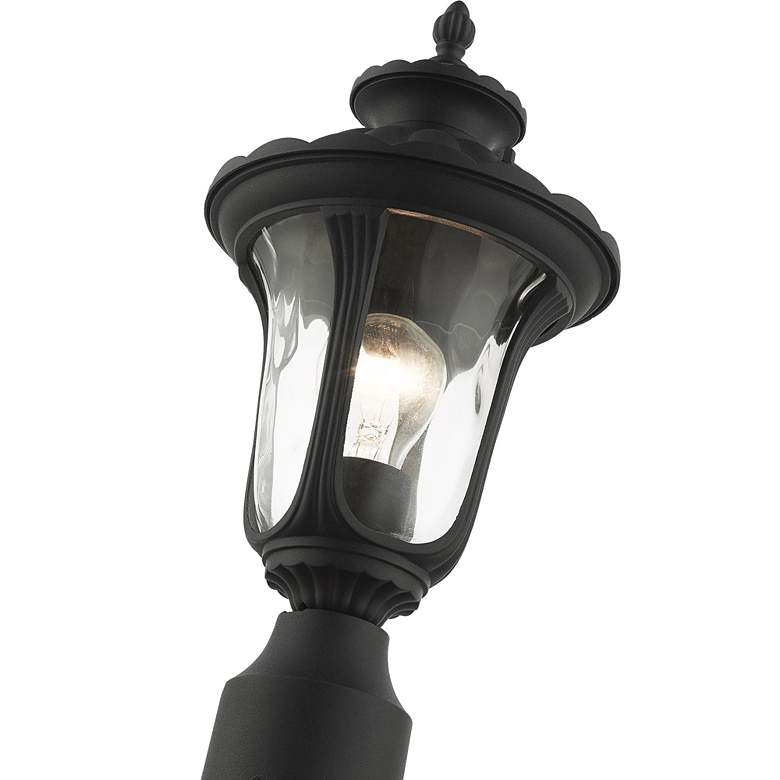"Oxford 19"" High Textured Black Lantern Outdoor Post Light more views"