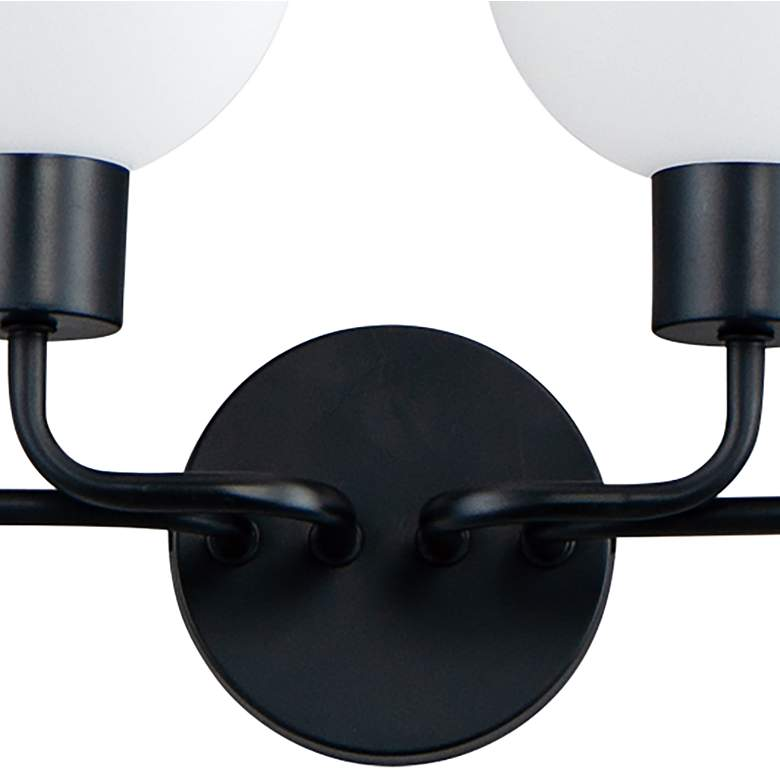 "Maxim Coraline 29 1/2"" Wide Black 4-Light Bath Light more views"