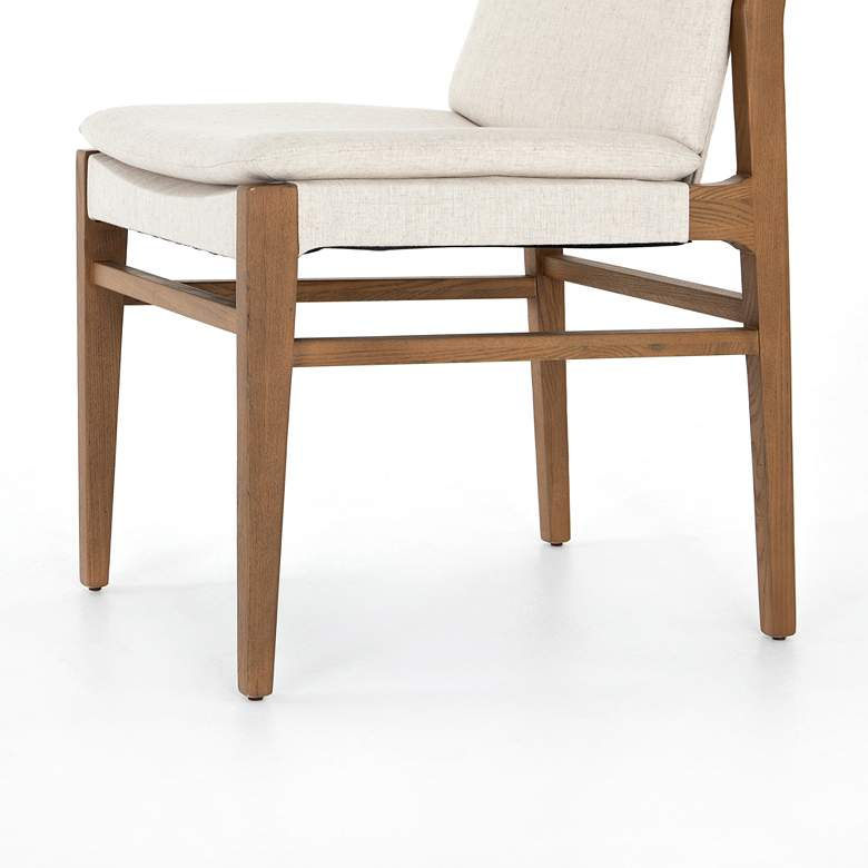 Aya Modern Brown Nettlewood Dining Chair more views