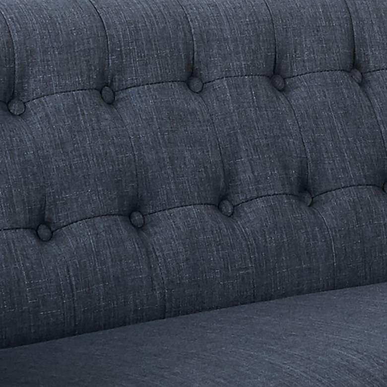 Mill Lane Navy Button-Tufted Loveseat more views