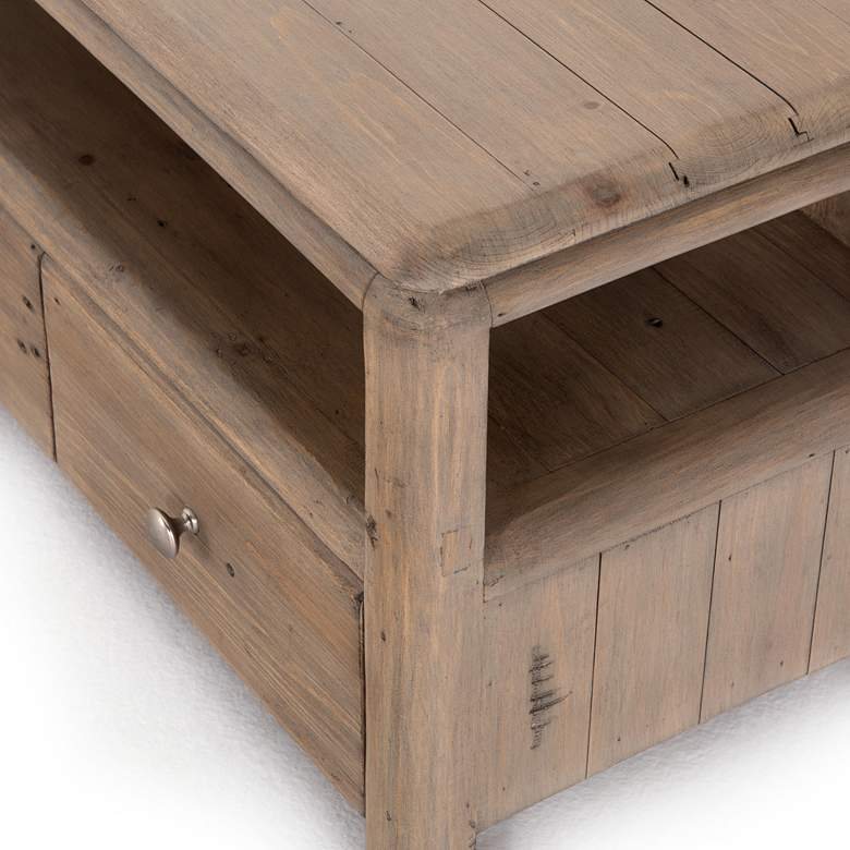 "Monroe 47 1/4"" Wide Rustic Wood 3-Drawer Media Console more views"