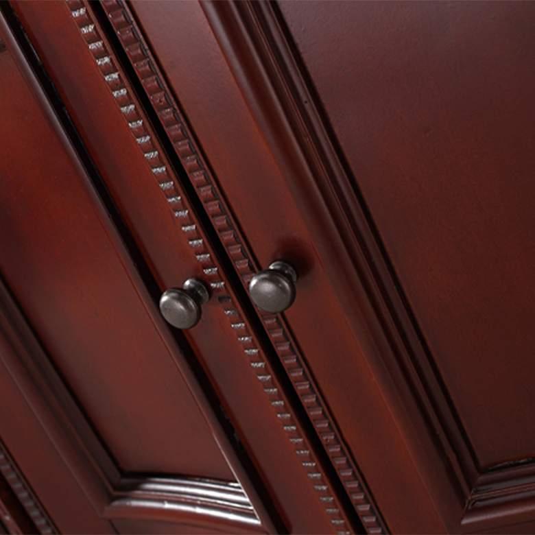 """Buckingham 60"""" Wide Dark Cherry 4-Door Double Sink Vanity more views"""