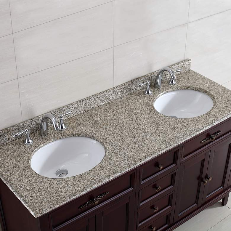 "Dustin 60"" Wide Tobacco 4-Door Double Sink Vanity more views"