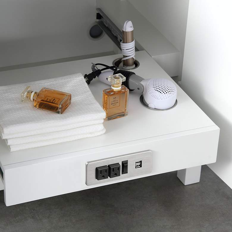 "Tahoe 72"" Wide White Double Sink Vanity Kit With 2 Mirrors more views"
