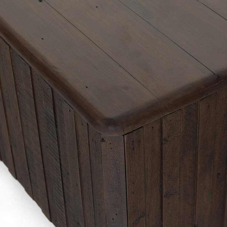 "Lineo 49 1/4"" Wide Rustic Oak and Iron Trunk more views"