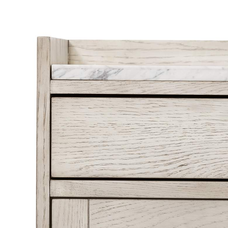 "Viggo 72"" Wide Vintage White Oak 3-Drawer Sideboard more views"