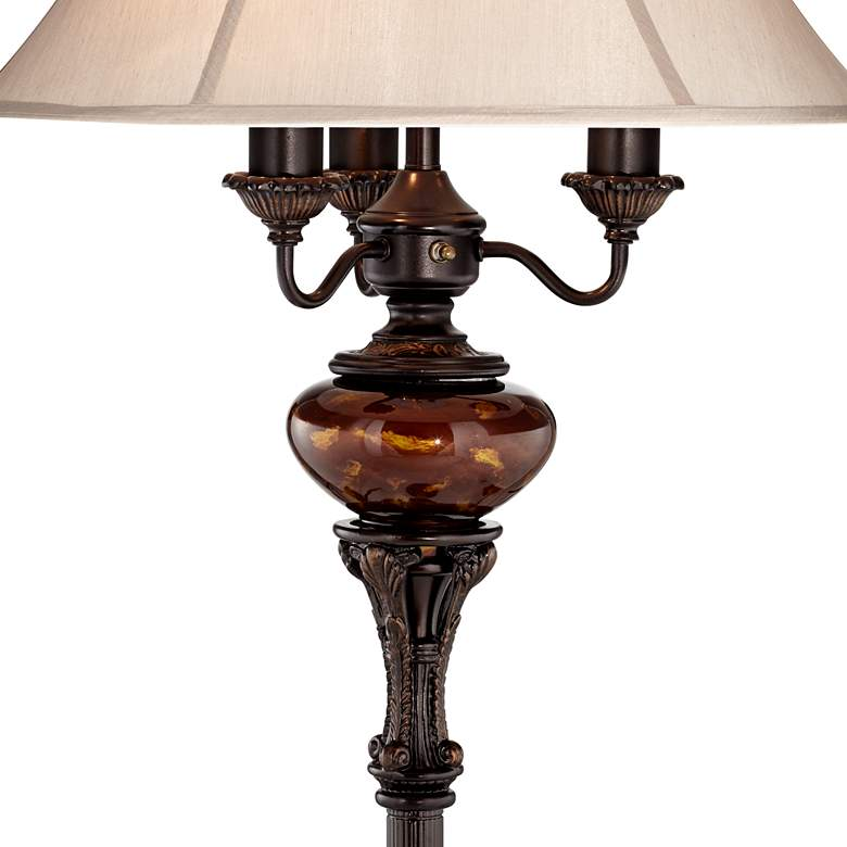 Bronze Tortoise Shell Font Floor Lamp by Barnes and Ivy more views