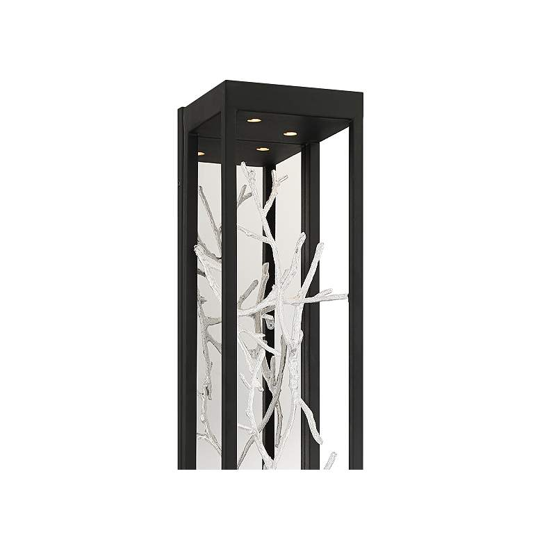 "Eurofase Aerie 30"" High Black and Silver 4-Light LED Wall Sconce more views"