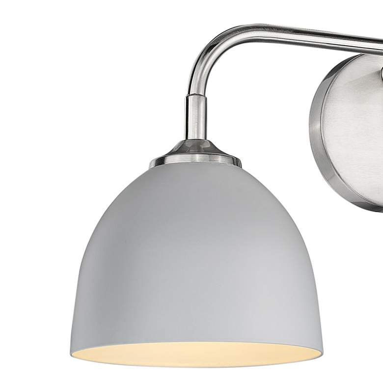 "Zoey 24 1/2"" Wide Pewter and Matte Gray 3-Light Bath Light more views"