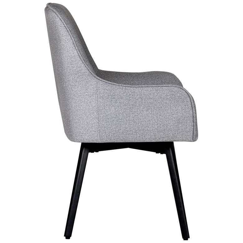 Spire Heather Gray Fabric Luxe Swivel Accent Chair more views