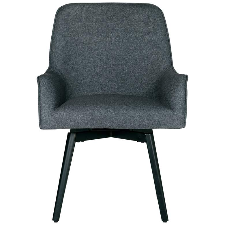 Spire Charcoal Gray Fabric Luxe Swivel Accent Chair more views