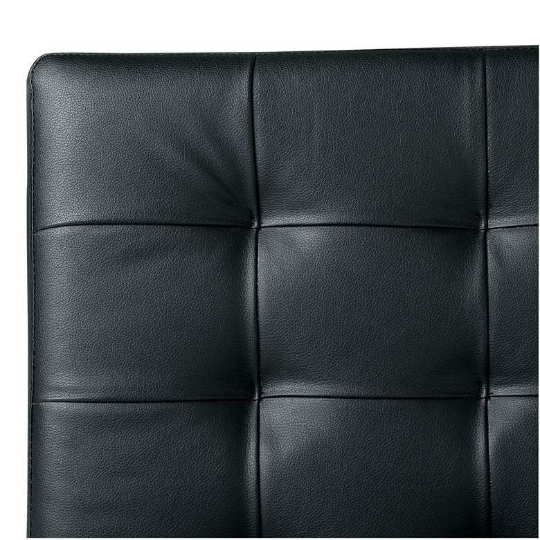 Atrium Black Bonded Leather Tufted Accent Chair more views