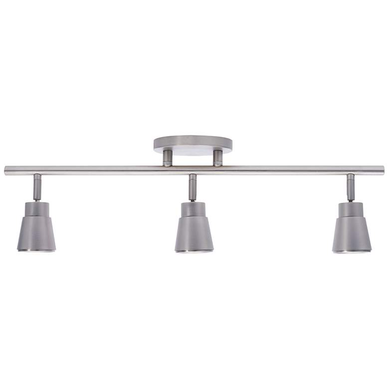 WAC Solo 3-Light Brushed Nickel LED Track Fixture more views