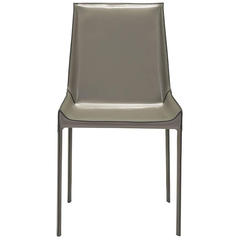 Zuo Fashion Gray Faux Leather Dining Chairs Set of 2 more views