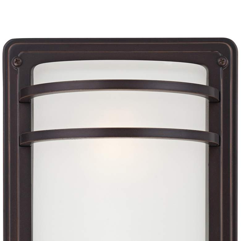 "Habitat 16"" High Bronze and Opal Glass Outdoor Wall Light more views"