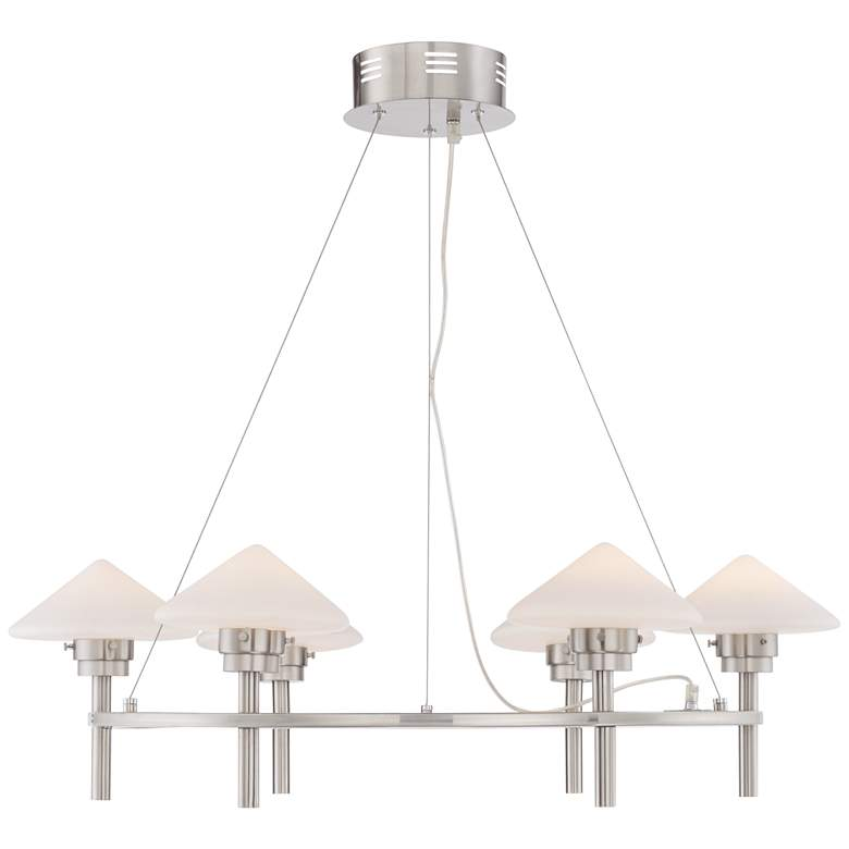 "Possini Euro Kanan 31 1/4"" Wide Satin Nickel Chandelier more views"